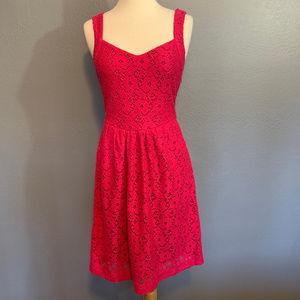 Deletta Anthropologie Pink Lace Silverfield Dress